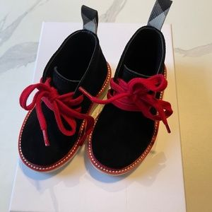 Burberry Infant Two-tone Suede Desert Boots